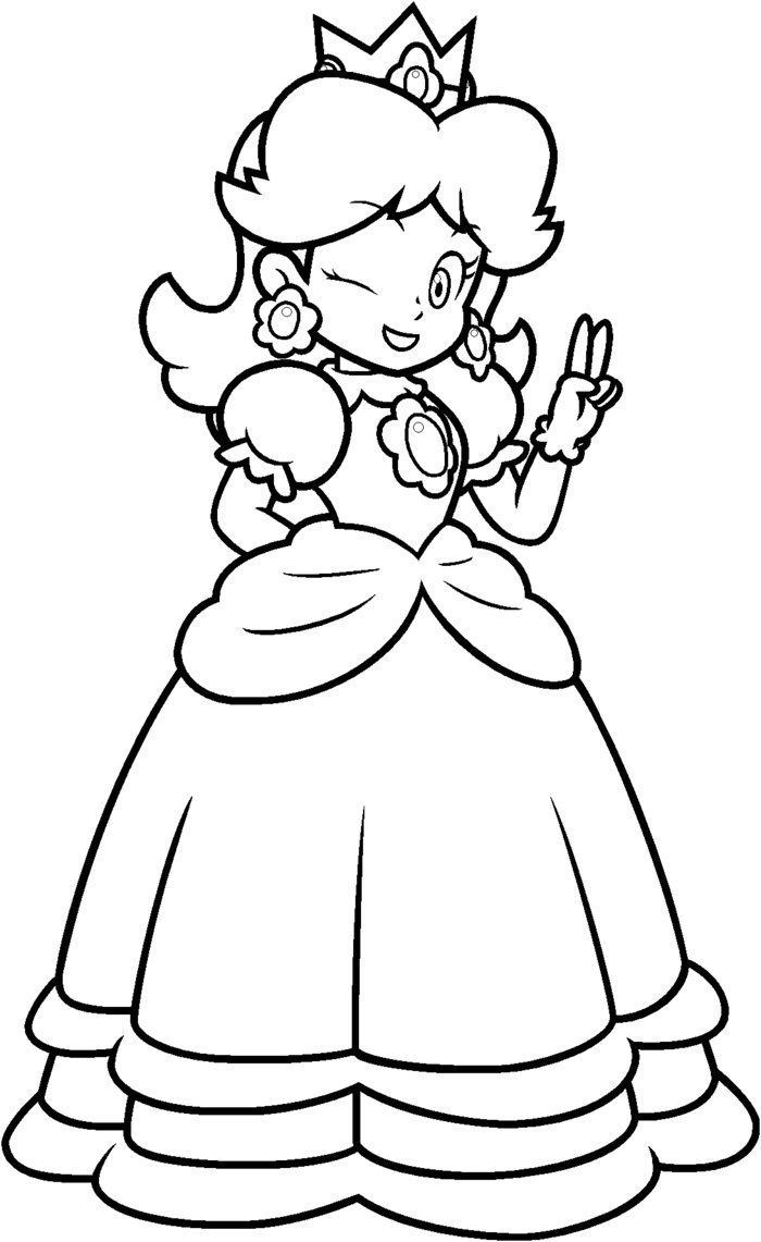 Princess Peach Coloring Pages Printable - Coloring Home   free coloring pages princess peach