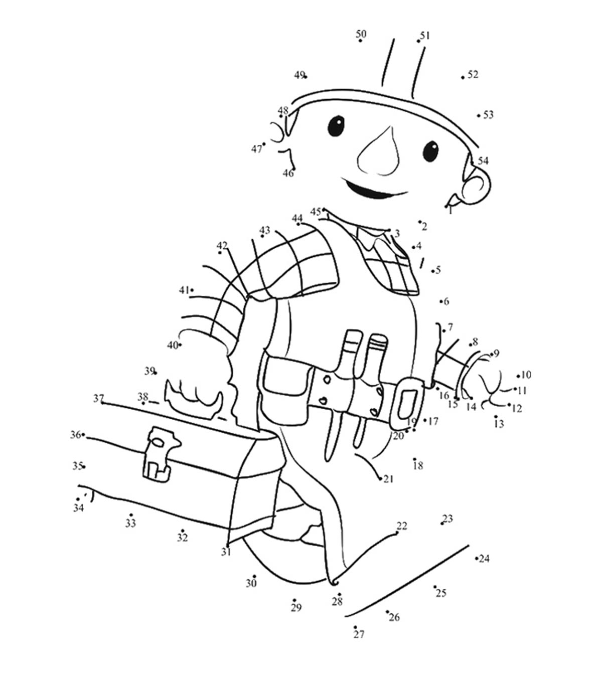 Adult Dot To Dot Coloring Pages