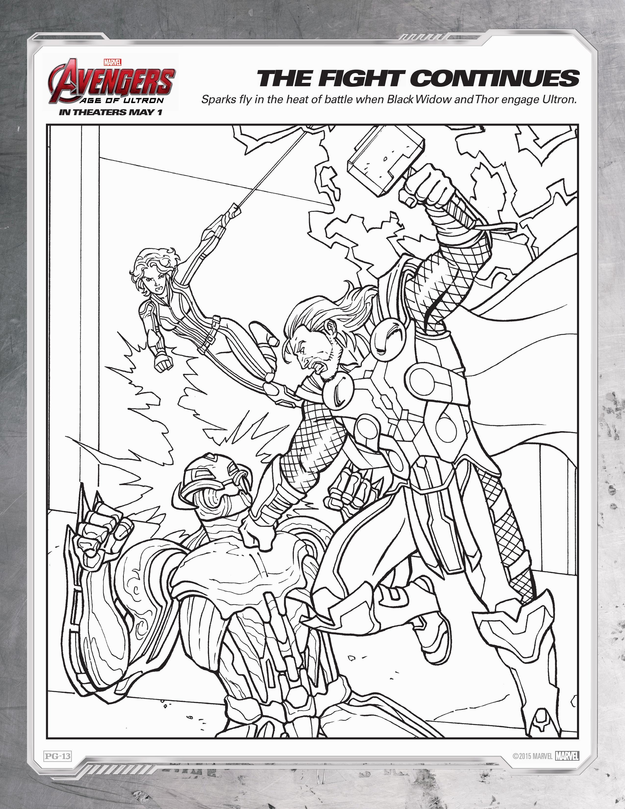 Avengers Age Of Ultron Coloring Sheets Avengers