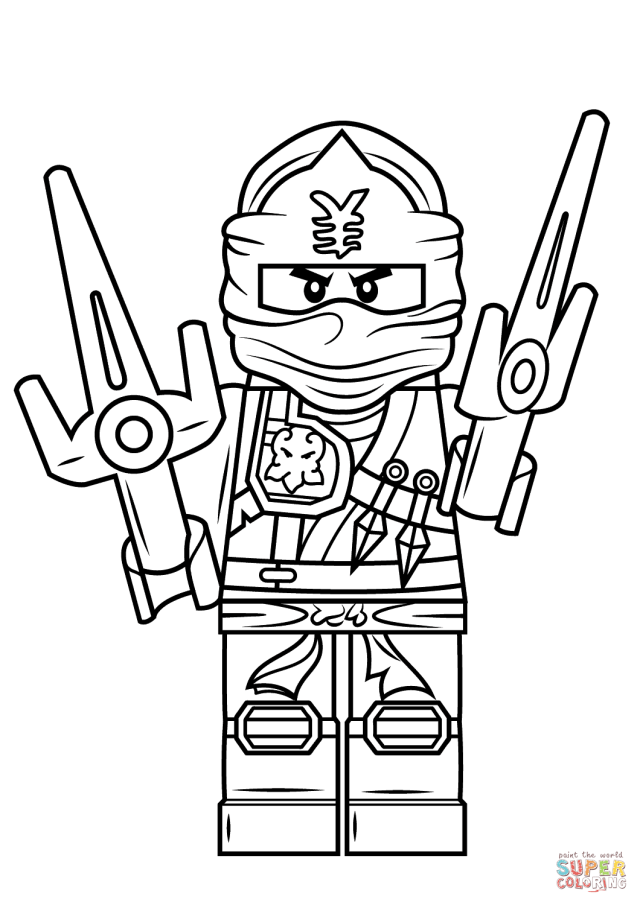 Lego Ninjago Jay ZX Coloring Page  Free Printable Coloring Pages