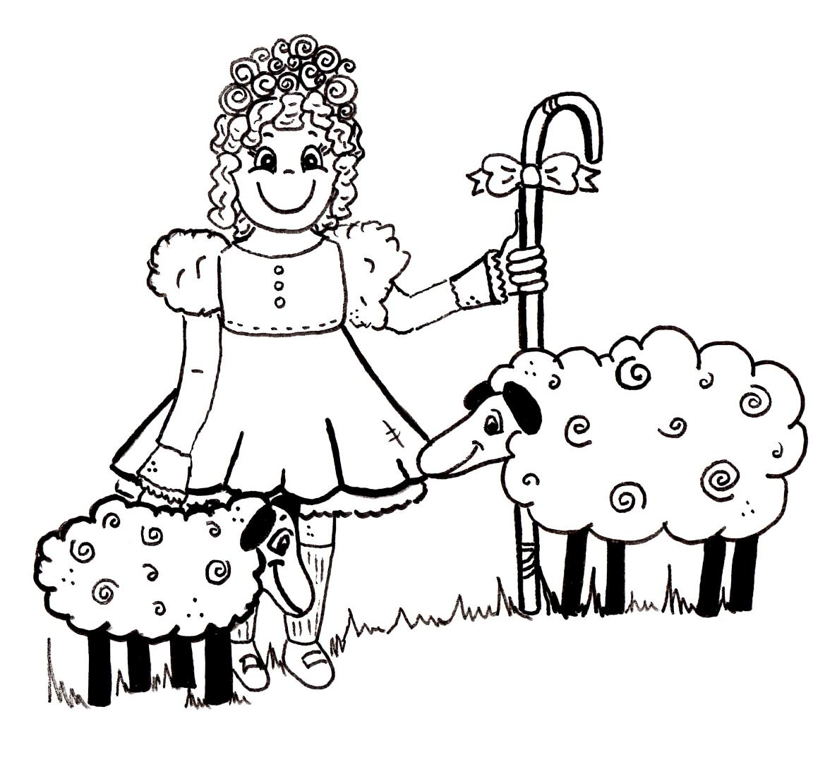 Little Bo Peep Coloring Pages