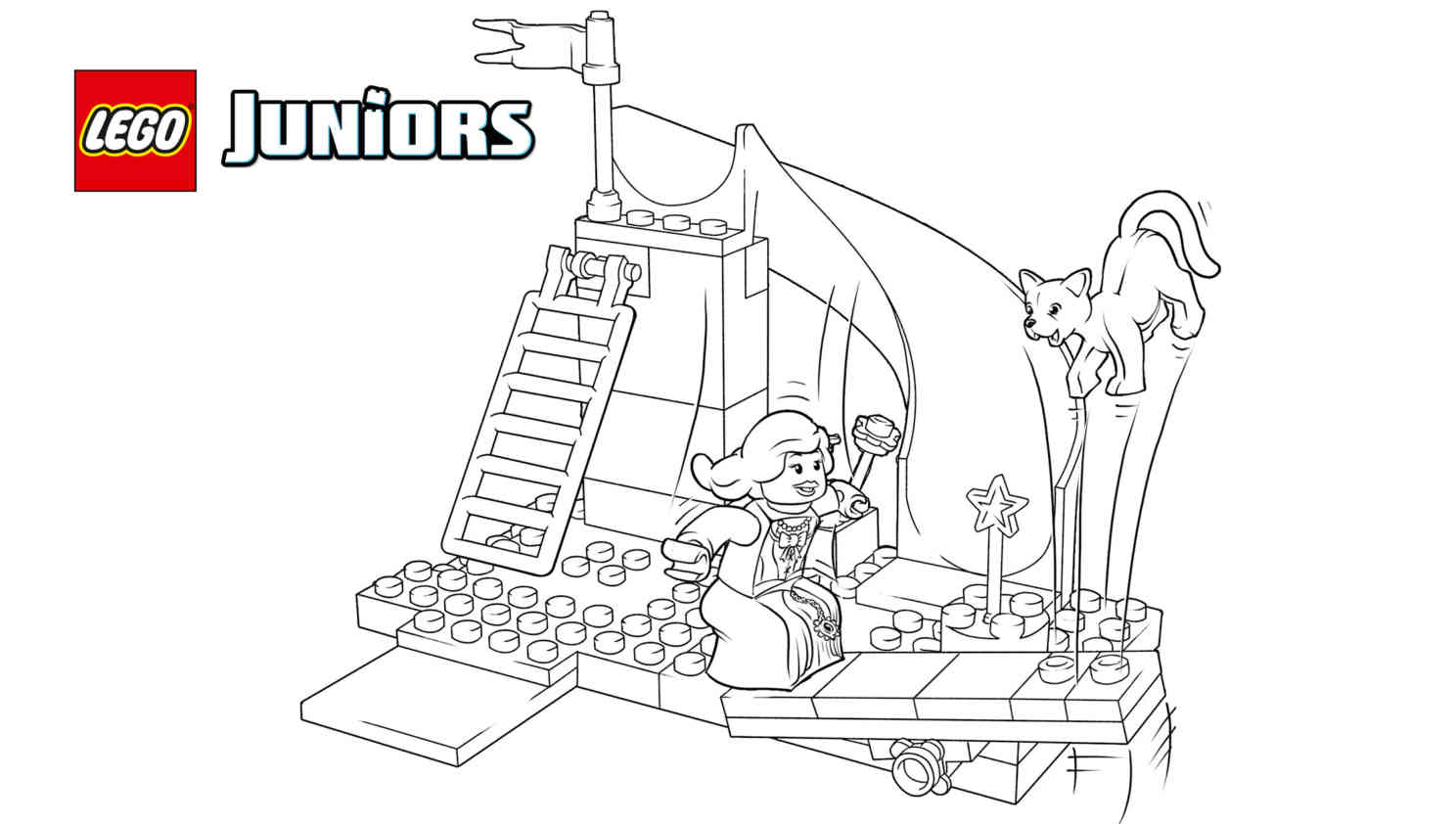 Free Printable Lego Castle Coloring Pages