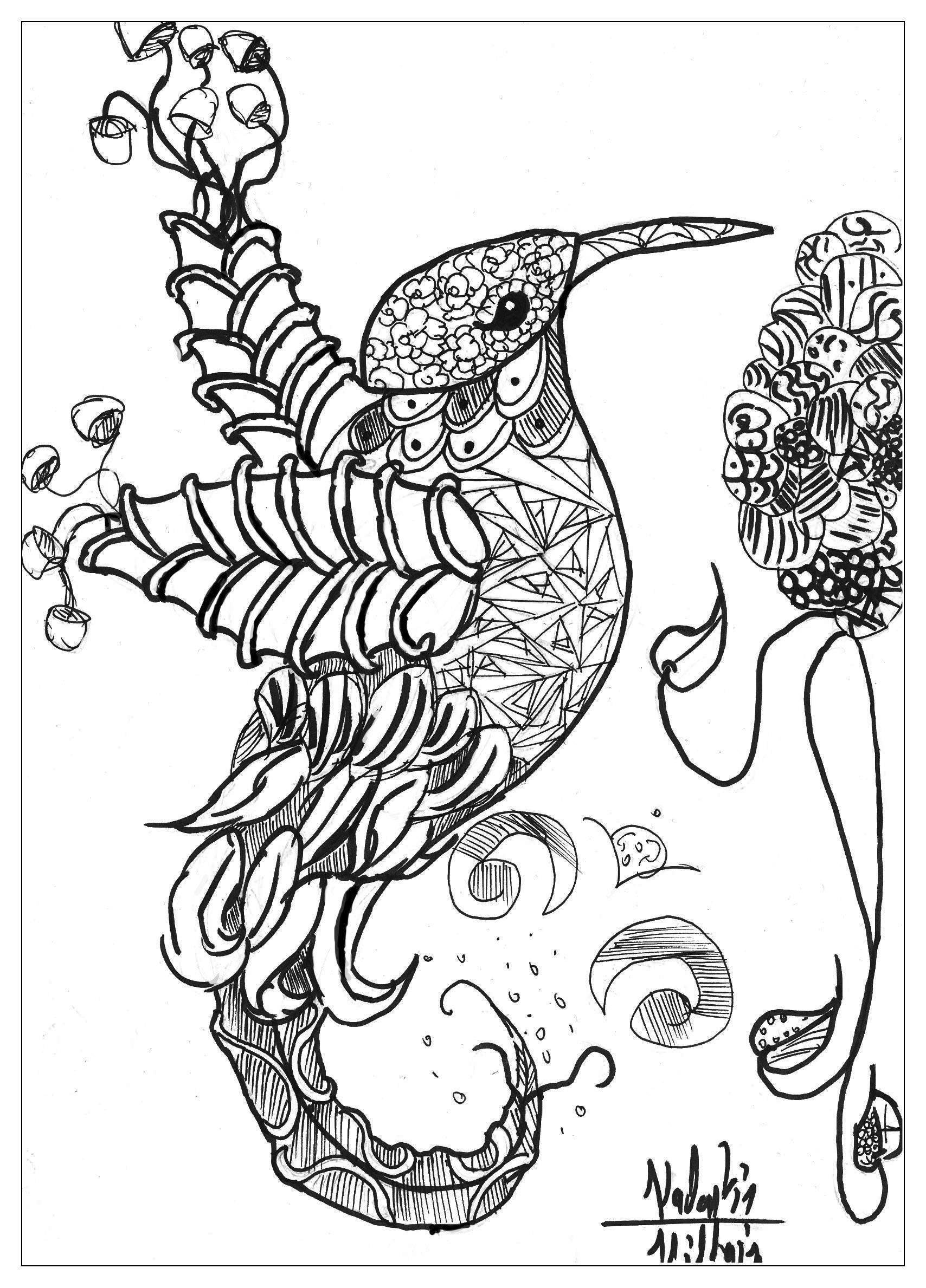Complex Coloring Pages Of Animals