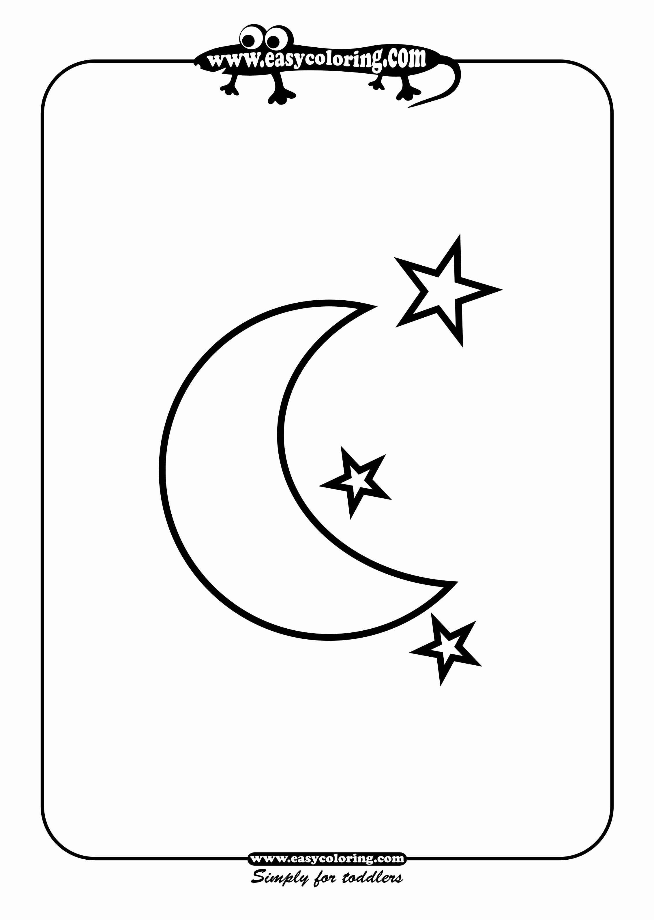 4 Best Images Of Half Moon And Stars Printable