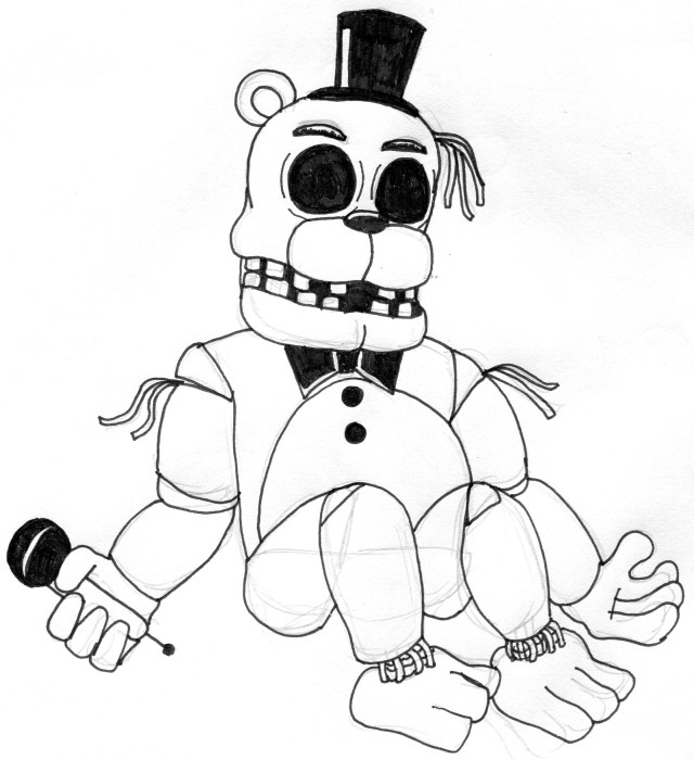 Color Pages ~ Five Nights At Freddy S Coloring Pages To