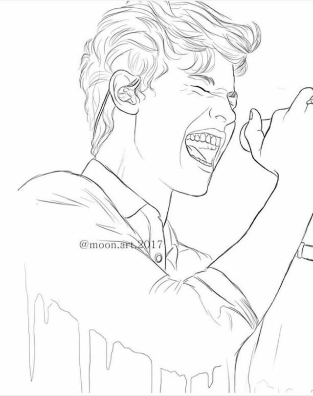 Shawn Mendes Coloring Pages - Coloring Home