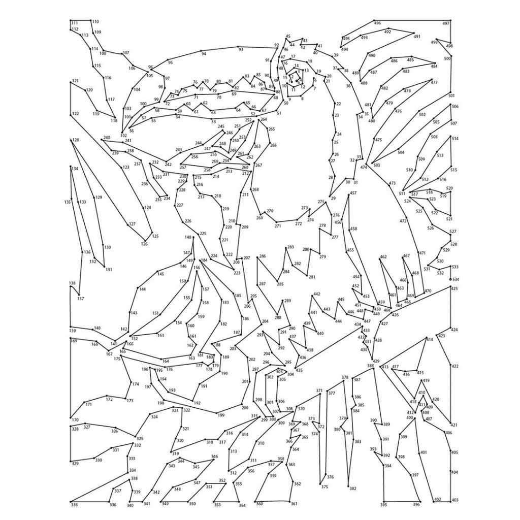 Extreme Dot To Dot Animals Coloring Pages