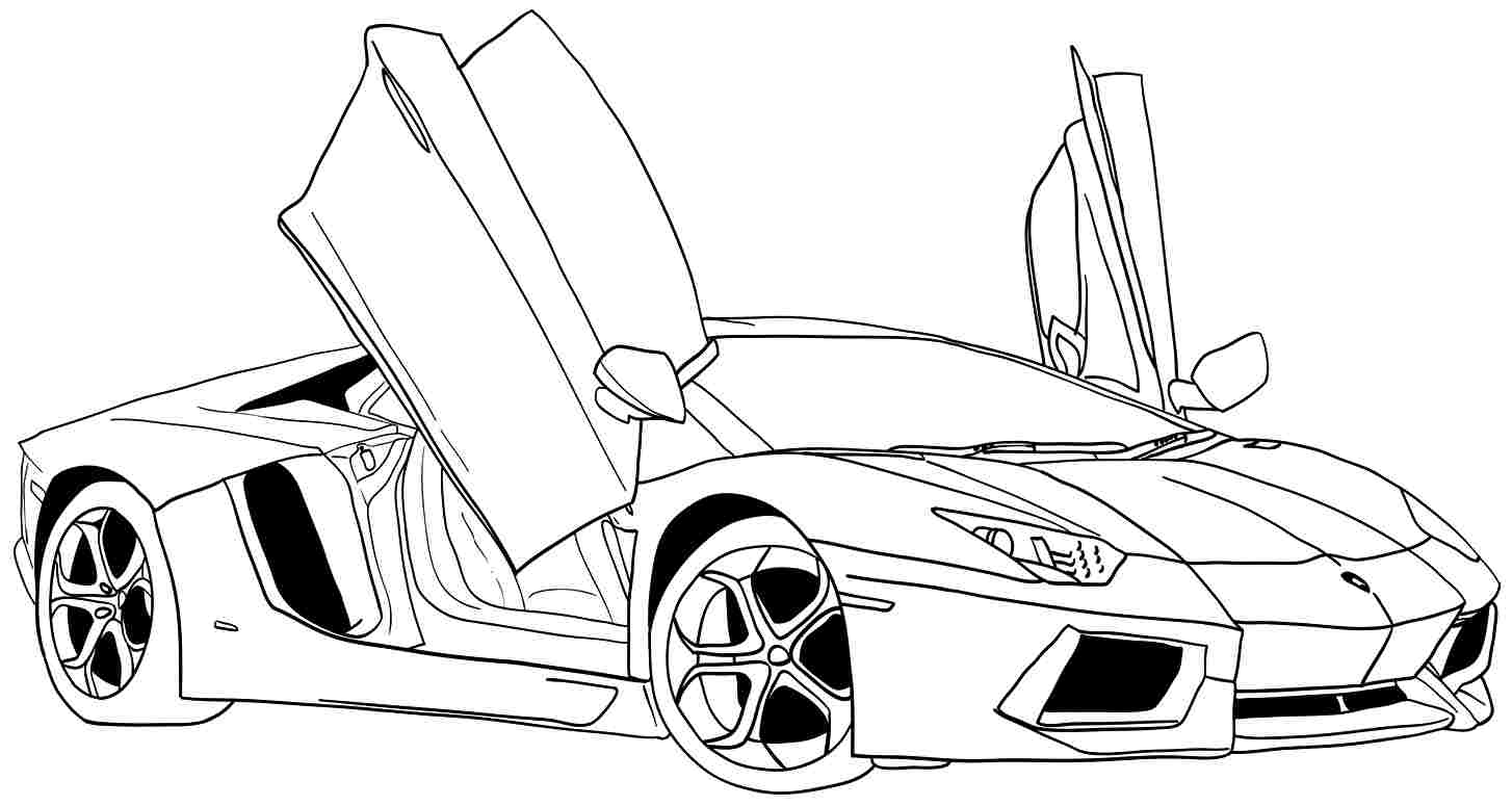 Kindergarten Coloring Pages Easy Cars