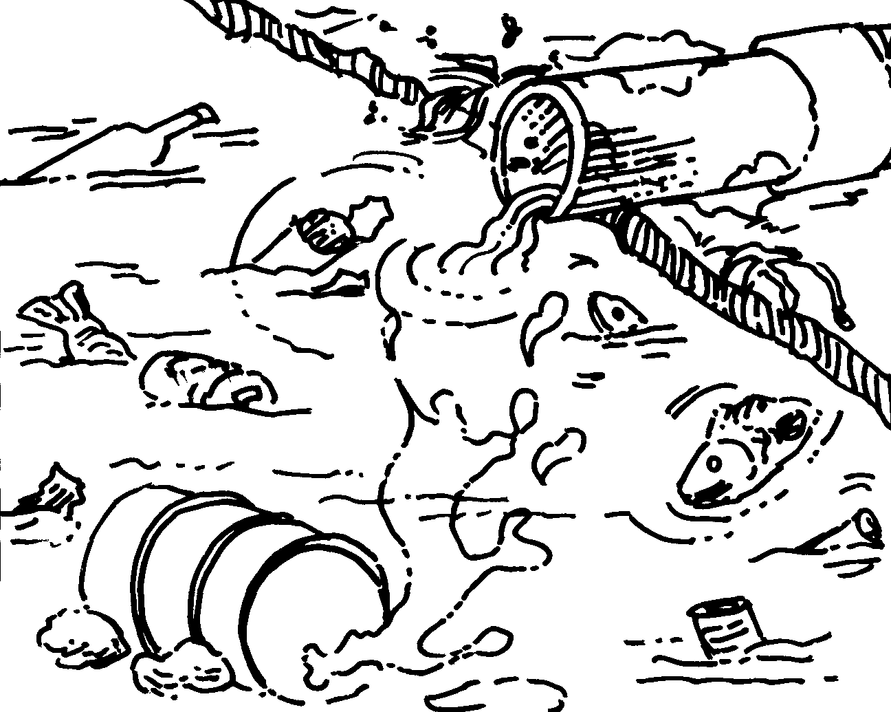 Land Pollution Coloring Pages