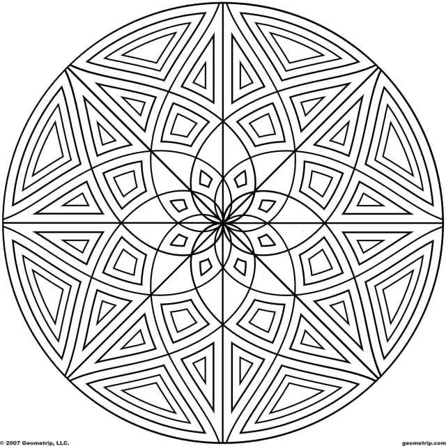 22D Circle Coloring Pages Printable - Сoloring Pages For All Ages
