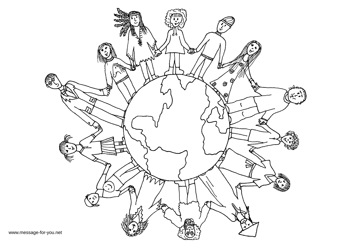 Coloring Pages Children Around The World