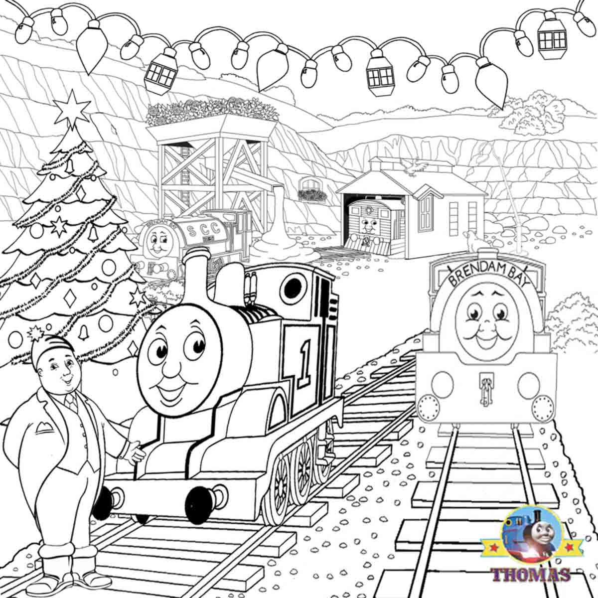 Bill Ben Thomas Coloring Page