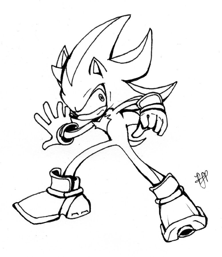 Sonic The Hedgehog Shadow Coloring Pages Image Search
