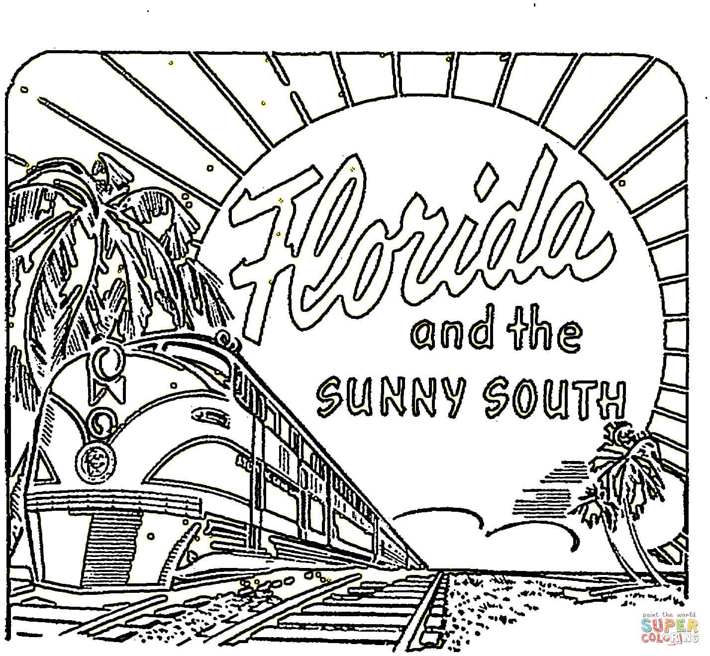 Florida Coloring Page
