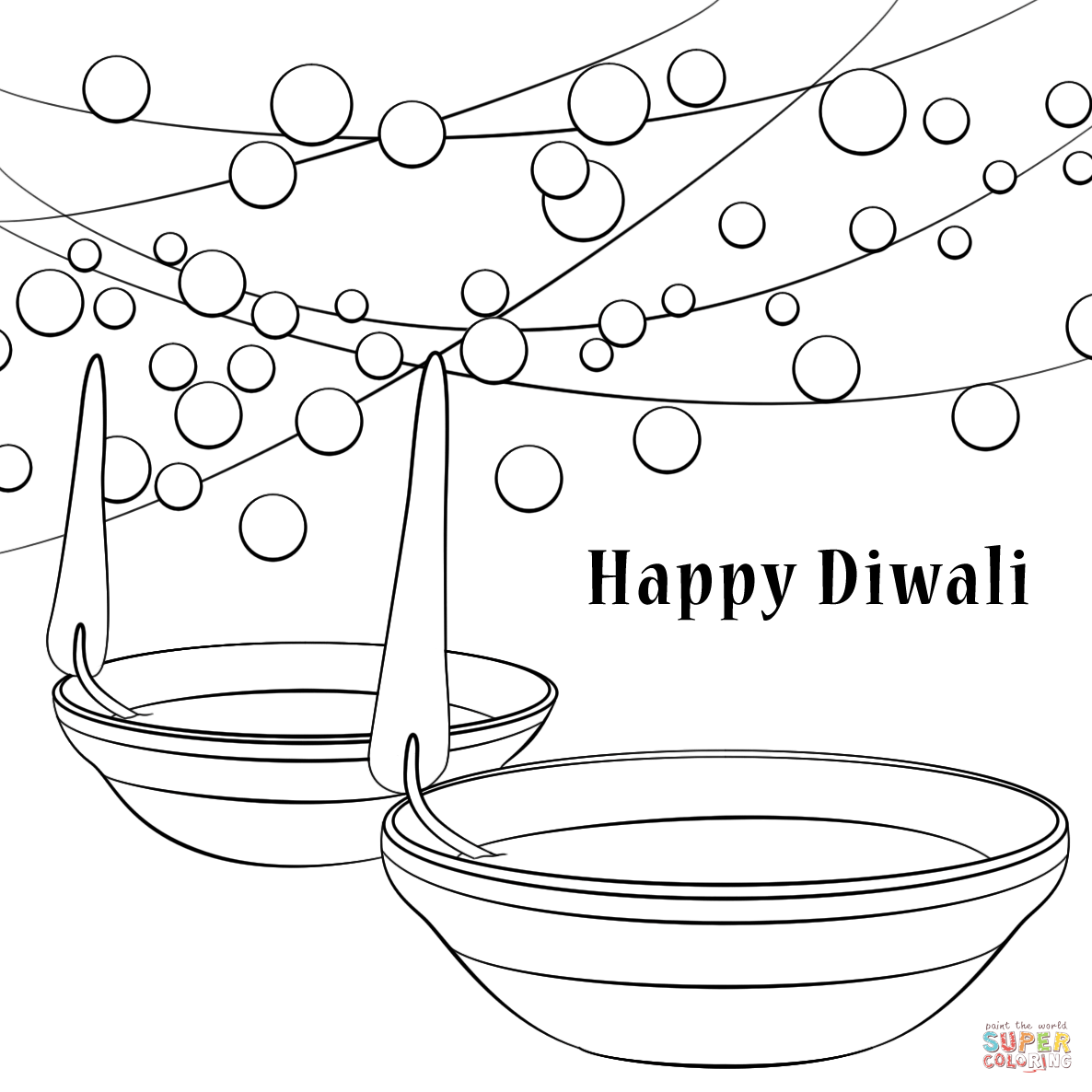 Diwali Coloring Pages