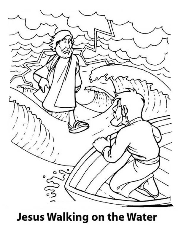 peter walks on water coloring pages  coloring home