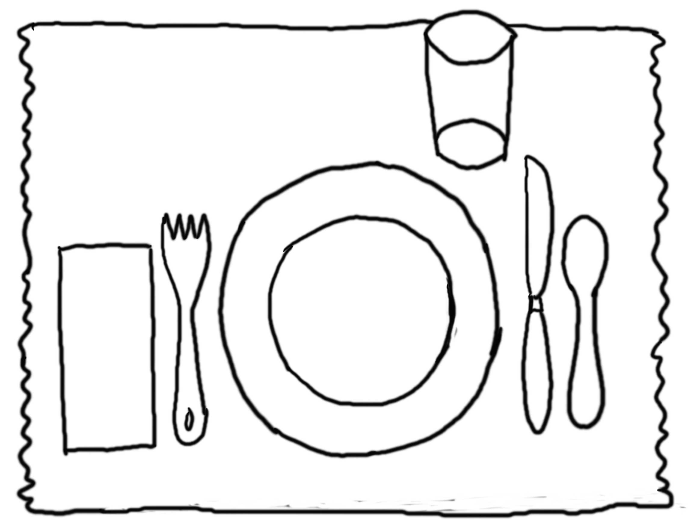 Table Coloring Page