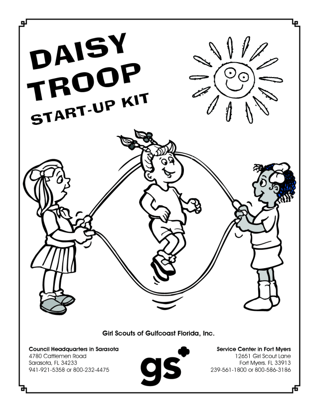 Daisy Girl Scouts Coloring Pages Free - Coloring Home