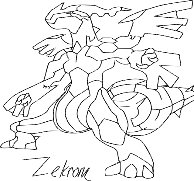 Download Coloring Pages Pokemon Zekrom Evolution - Coloriage