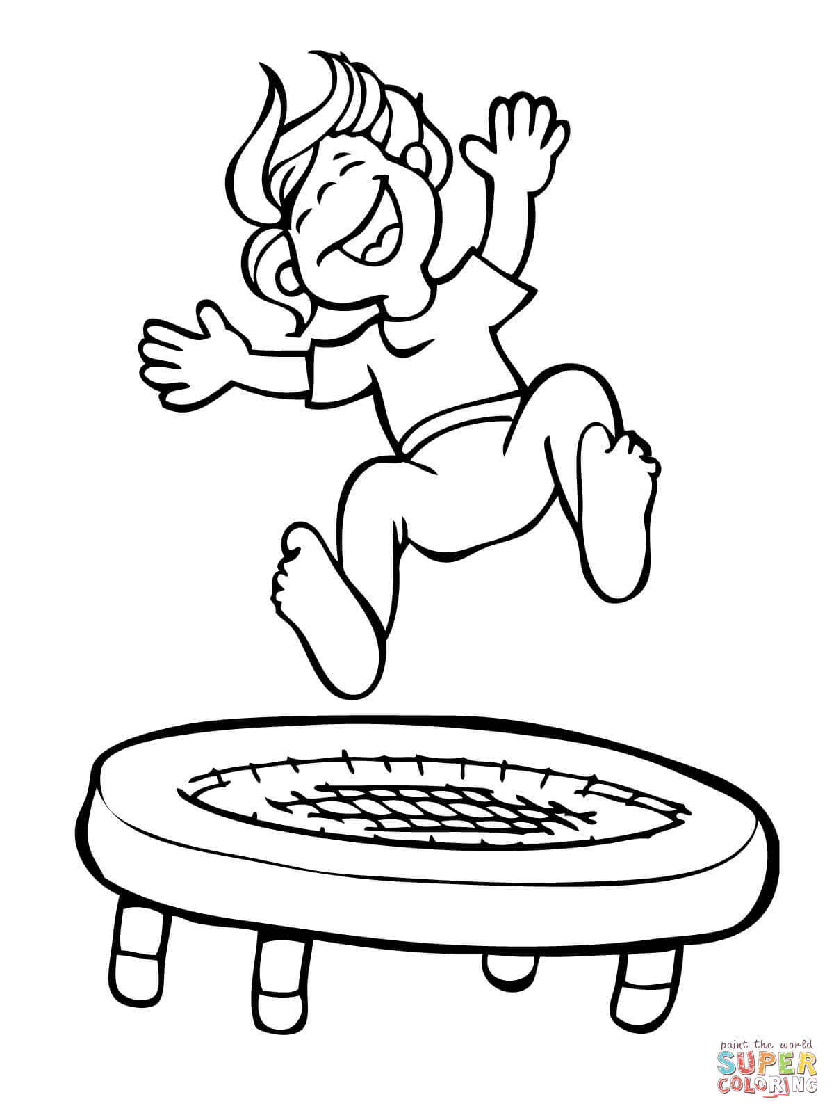 Jump Coloring Page