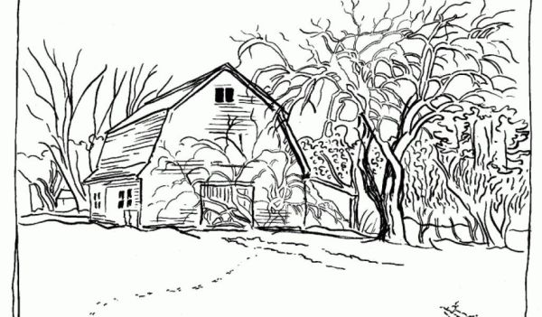 coloring pages printable mountains and trees # 33