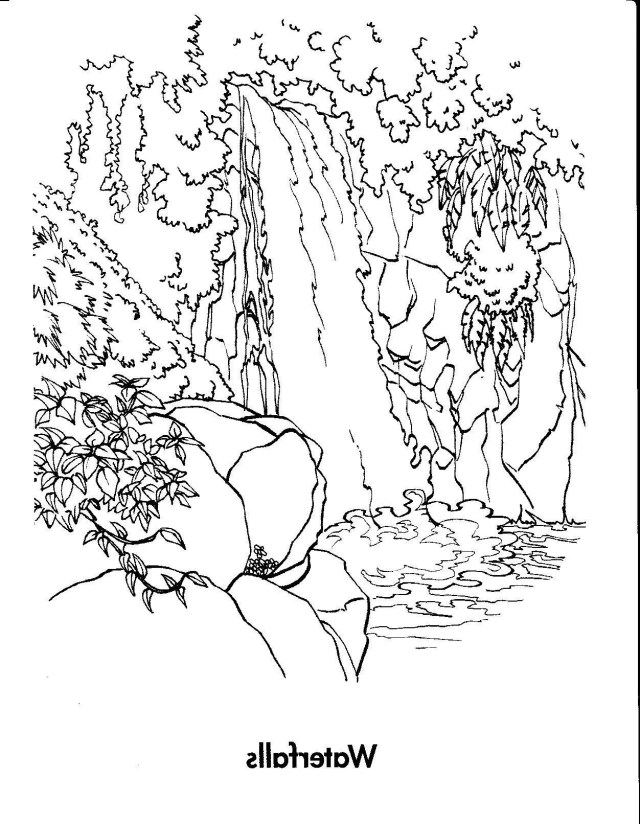 Waterfall Coloring Pages For Kids At GetDrawings  Free Download