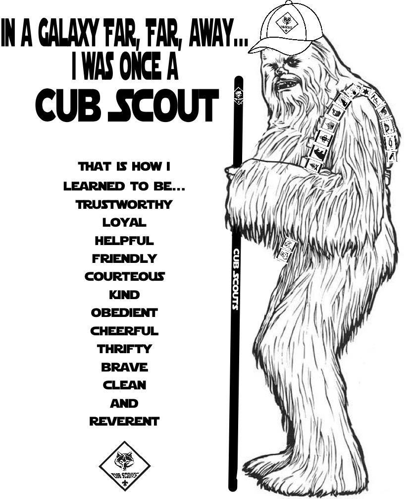Clip Coloring Cub Pages Art Scout