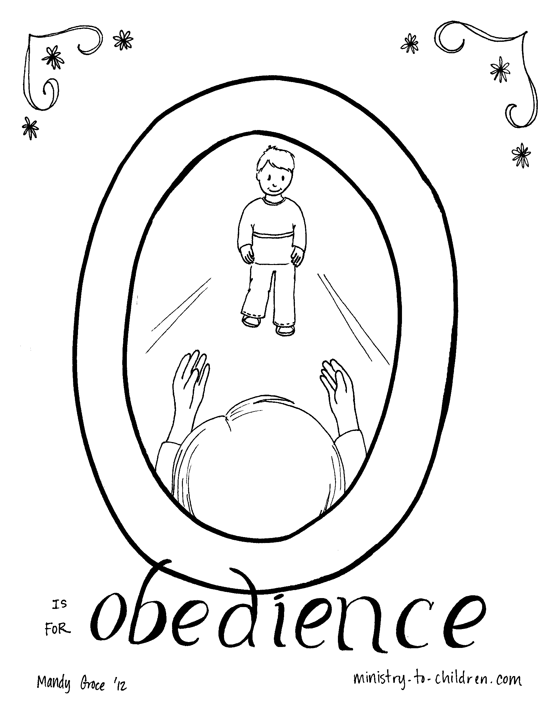 Obe Nce Coloring Page