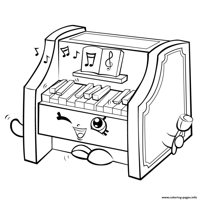Piano Coloring Pages - Coloring Home