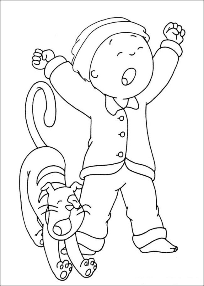 caillou printable coloring pages  coloring home
