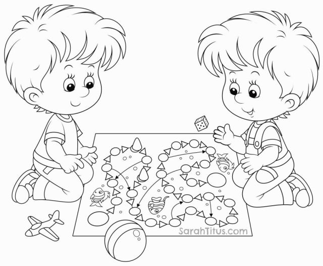 Children Playing Coloring Page  Coloring Pages - Coloring Home