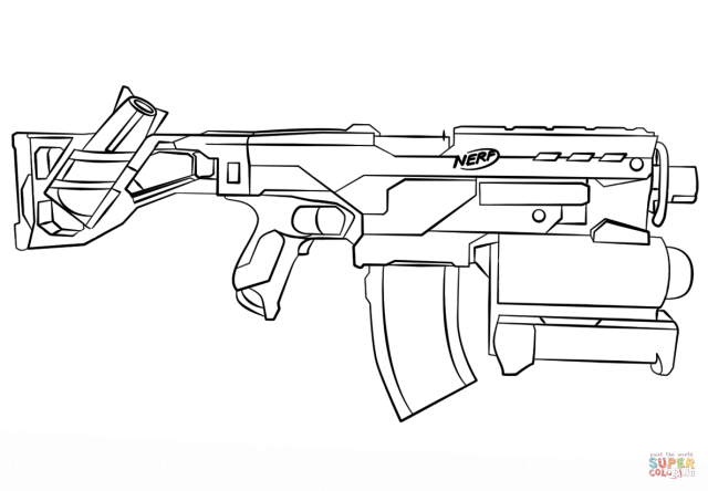 Nerf Gun Coloring Page  Free Printable Coloring Pages - Coloring Home