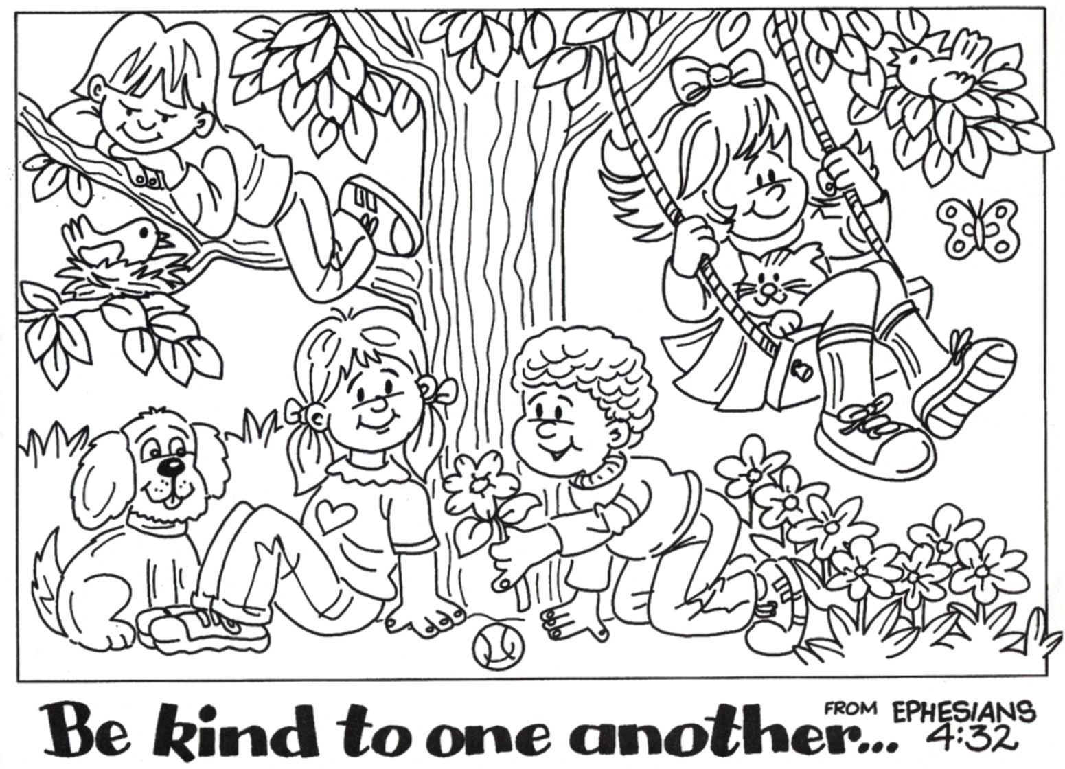 Kindness Coloring Pages To Print