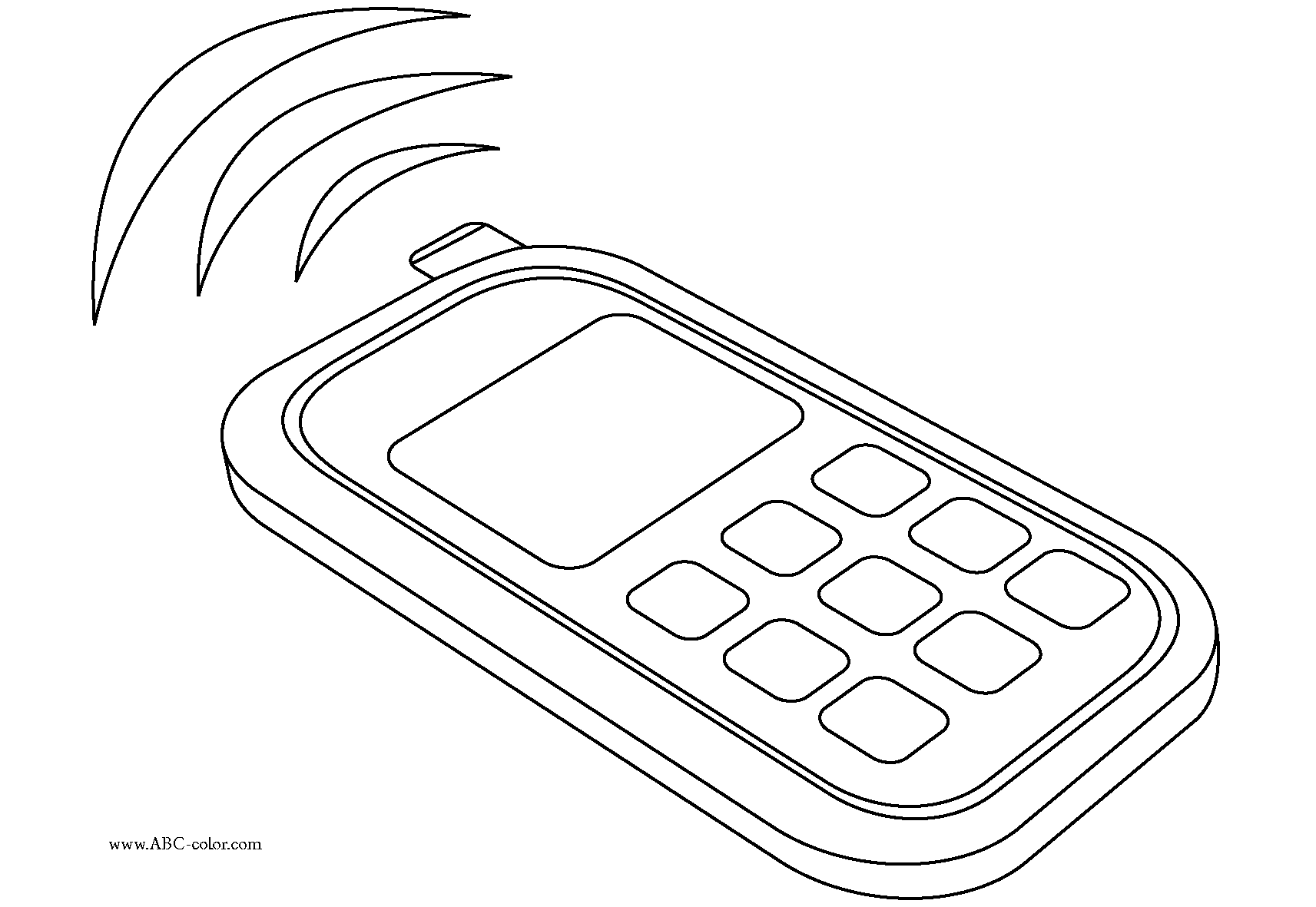 Coloring Pages Of Cell Phones