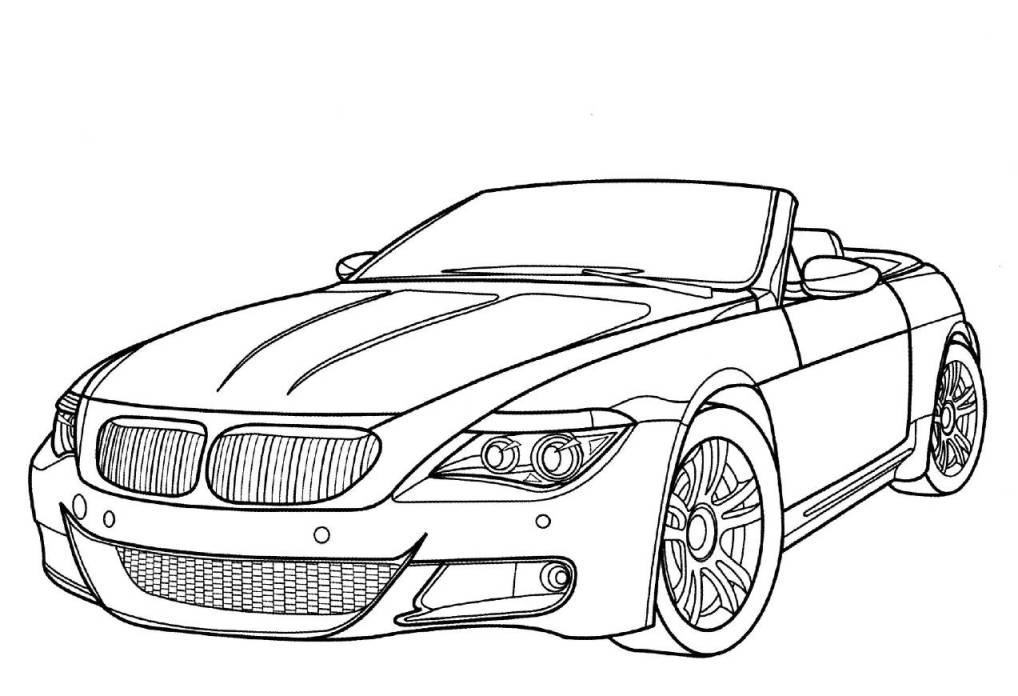 Car Pages Coloring Donk
