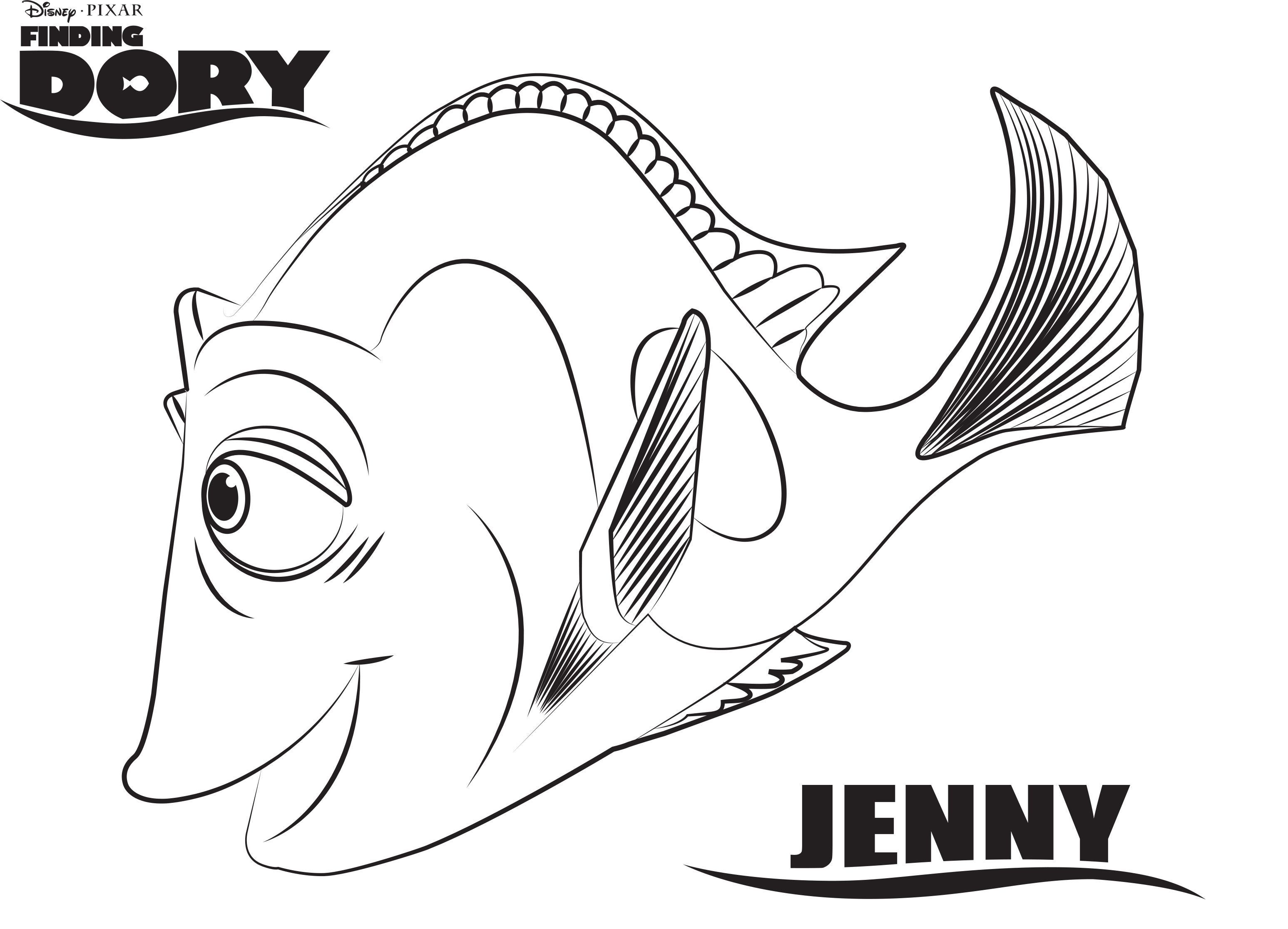 Finding Dory Coloring Pages