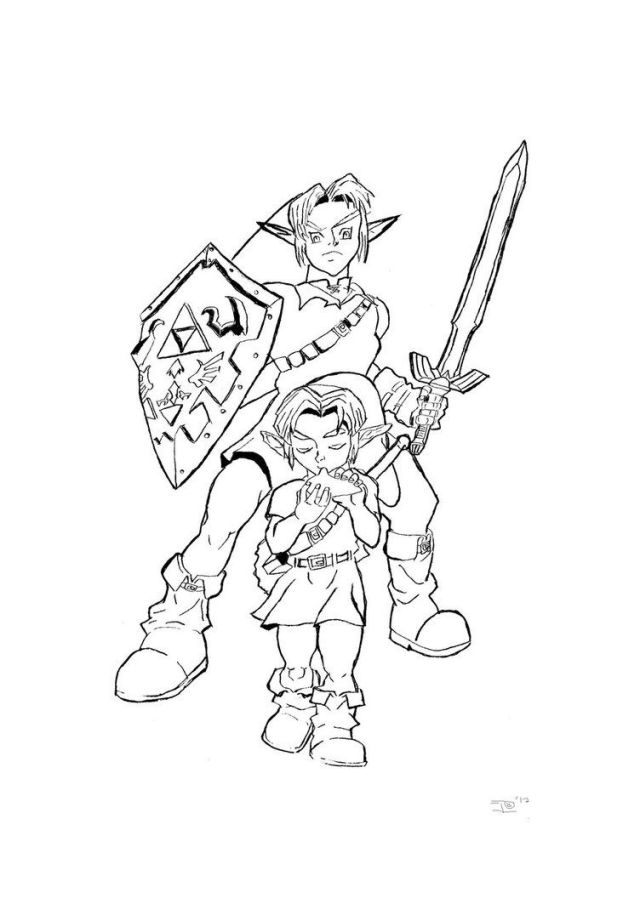 24 Pics Of Link Ocarina Of Time Coloring Pages - Zelda Coloring