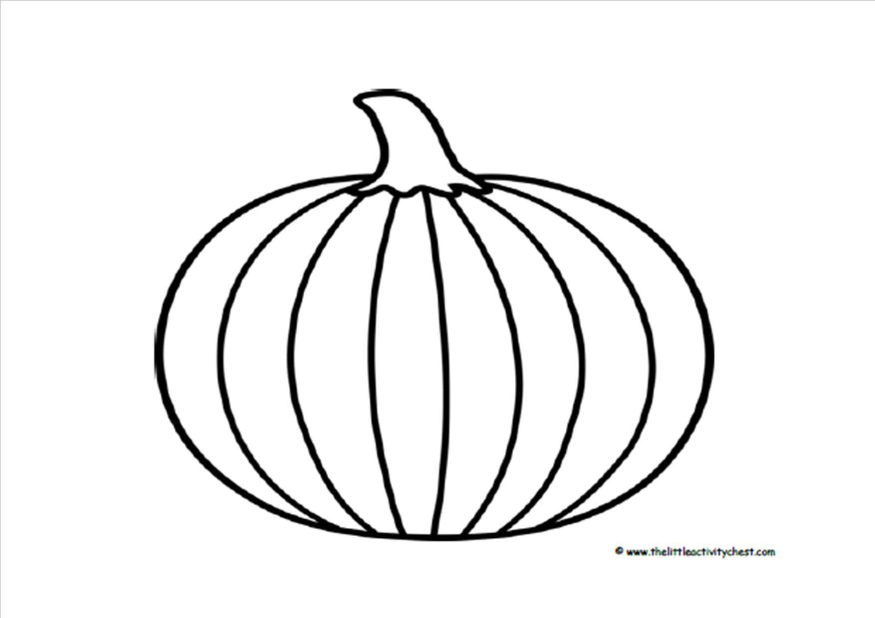 Printable Pumpkin Outline