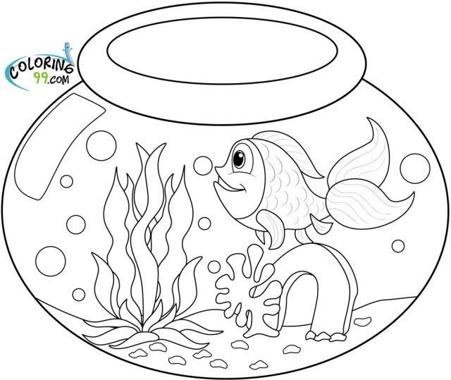 Goldfish Coloring Pages  Team Colors - Coloring Home