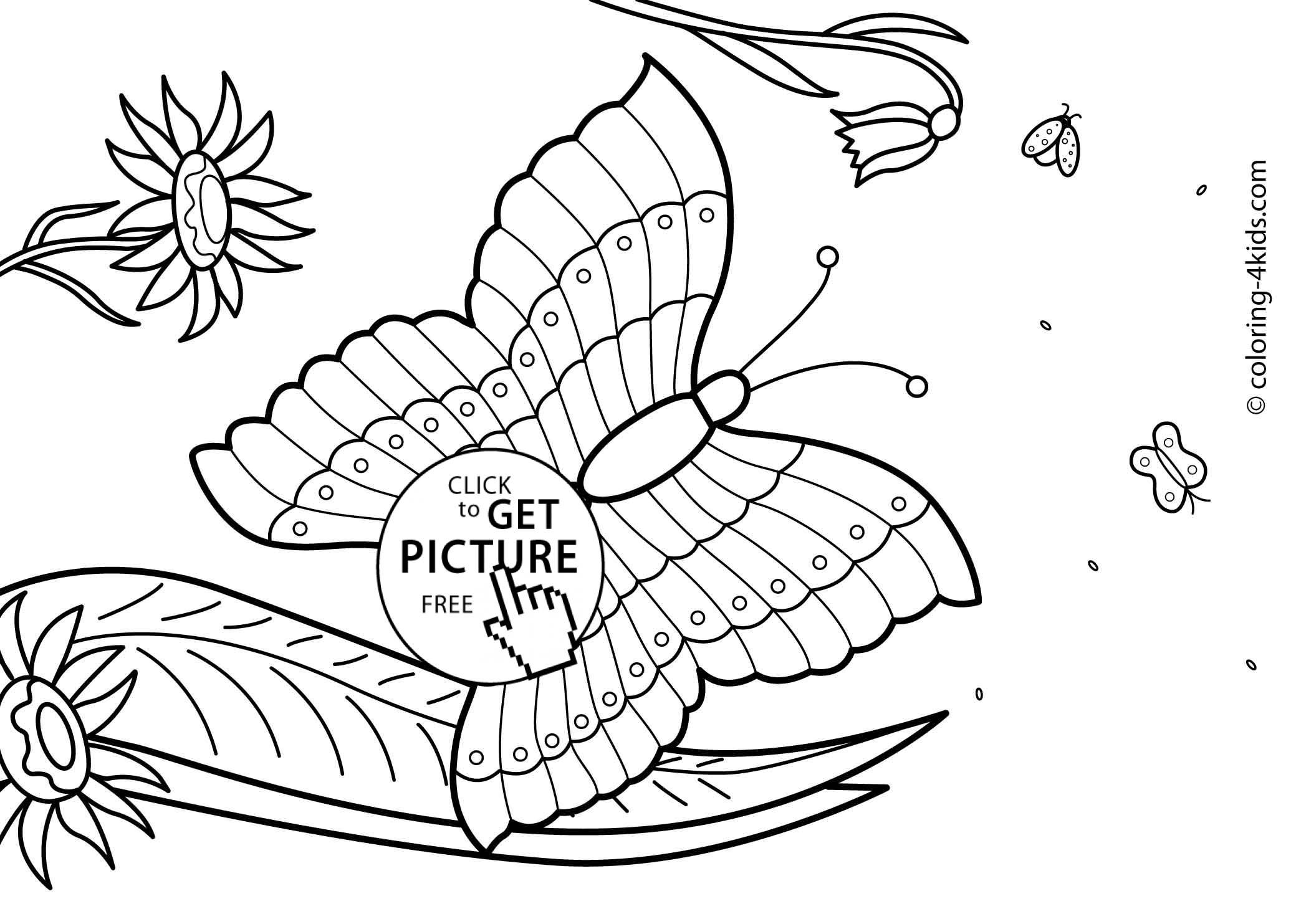 Summer Coloring Pages For Kids To Print Out
