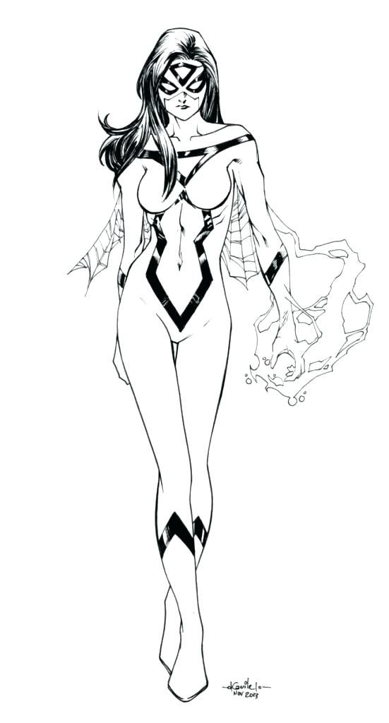 spider woman coloring pages  coloring home