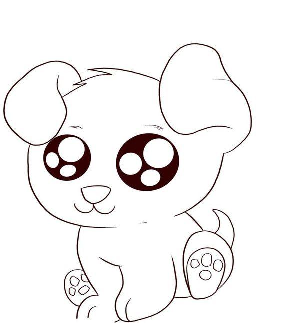 Cute Cartoon Pugs Baby Color