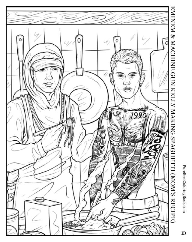 Eminem Coloring Pages - Coloring Home
