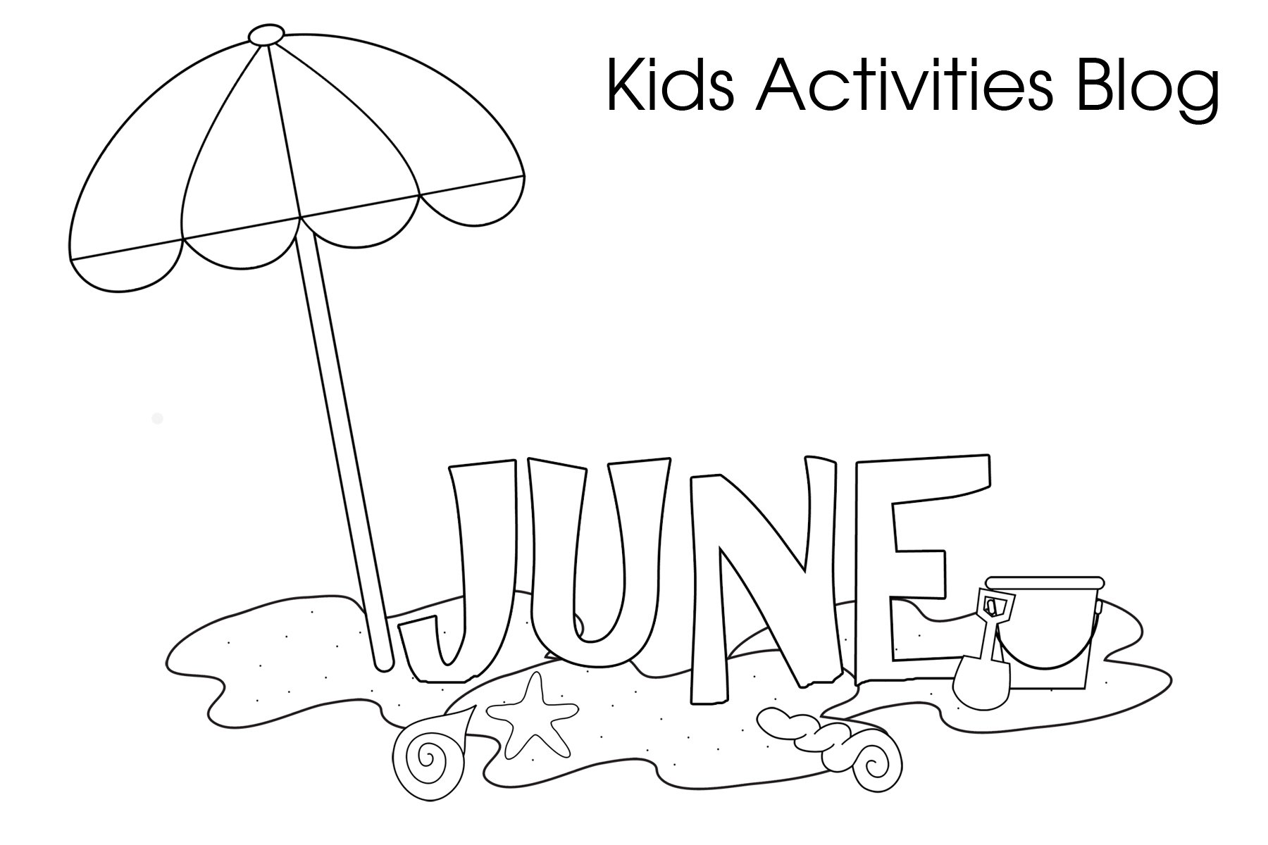 Free Printable Coloring Pages June