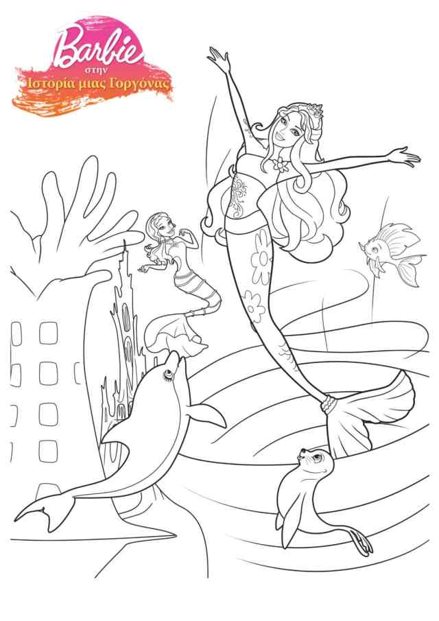 Barbie Mermaid Coloring Pages - Coloring Home