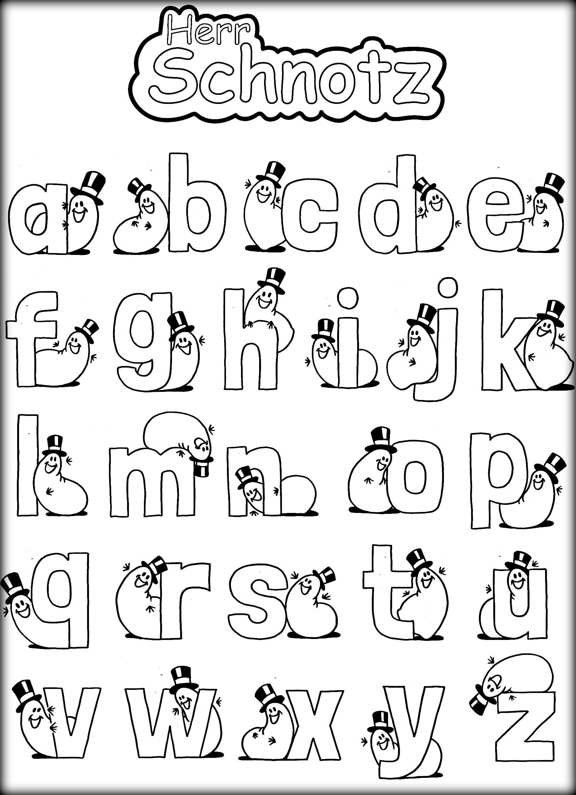Alphabet With Funny Letters Coloring Pages