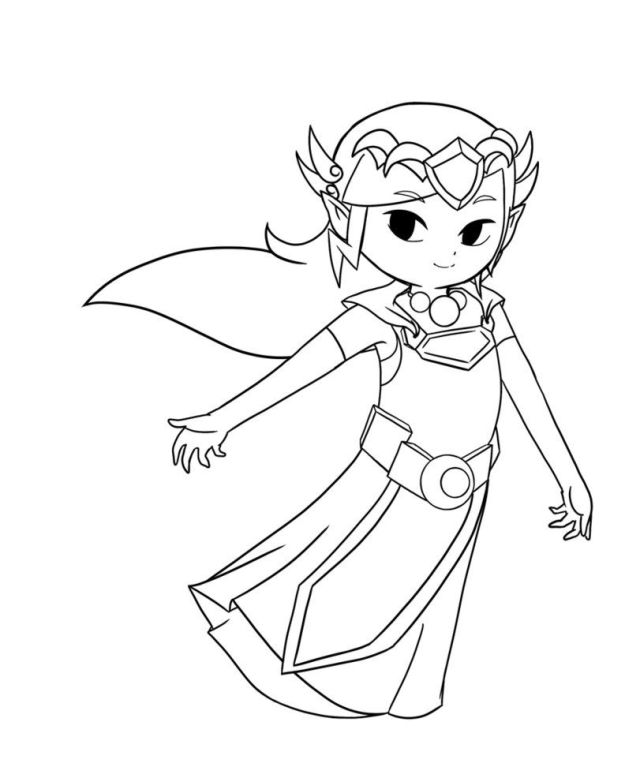 Toon Zelda Coloring Pages - High Quality Coloring Pages - Coloring