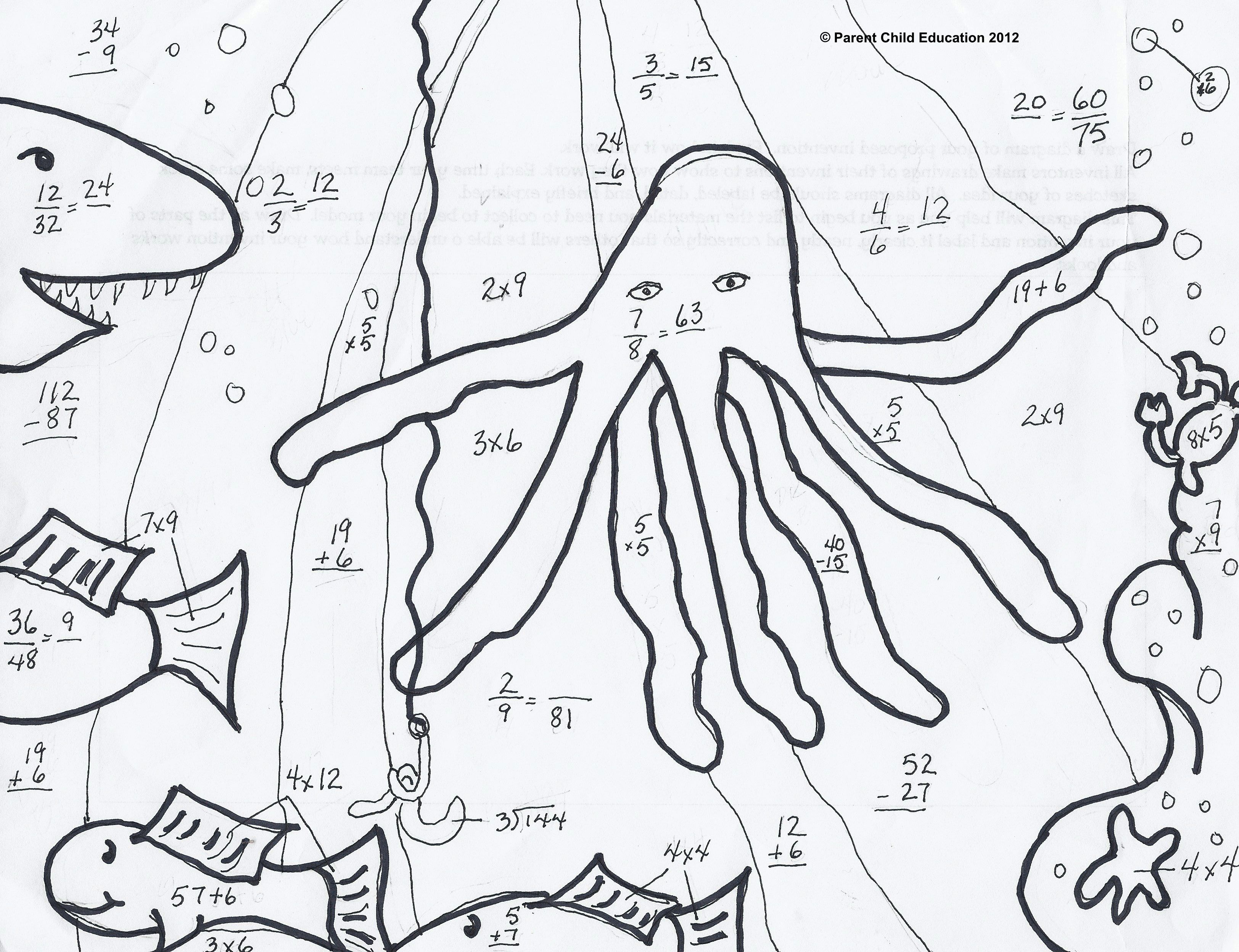 Math Coloring Pages Multiplication