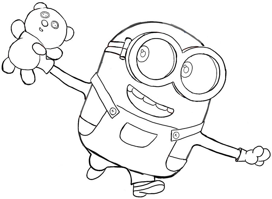 Minion Bob Coloring Pages