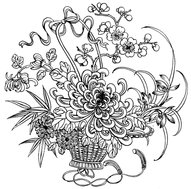 Free Coloring Pages For Adults Flowers - Coloring Home